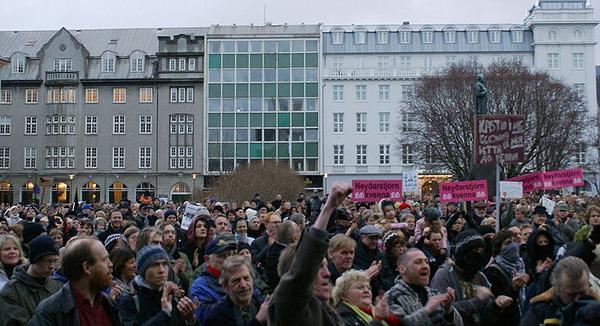 Die isländische Revolution der Kochtöpfe, 10. Januar 2009