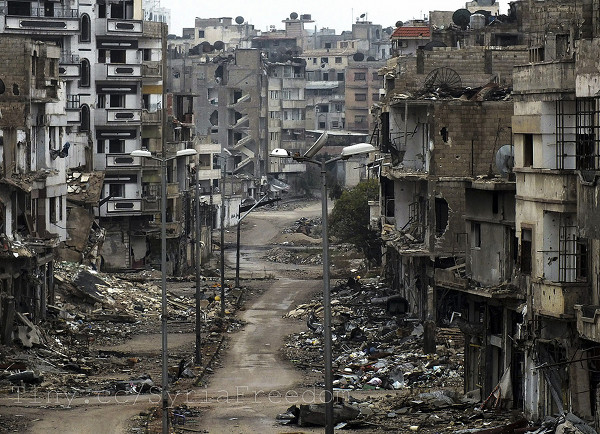 Das al-Khalidiya Viertel in Homs am 26.12.2012